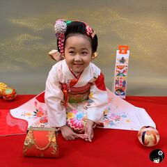 日本髪/七五三/つまみ細工/あぼかぼ 七五三のお客様着用画像💕 かわいい笑顔頂…