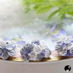 あぼかぼつまみ細工 紫陽花✖️シェル✨ 2020年版の紫陽花…