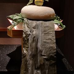 鏡餅お正月箱根/お正月2020 お正月に泊まった箱根で特大の鏡餅を取りま…