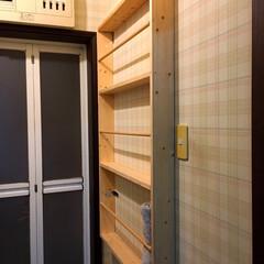 日曜大工/ダイソー/DIY/収納/ハンドメイド/住まい/... 何年か前に作った物ですが、お風呂の脱衣室…(2枚目)