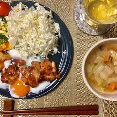ヘルシー/夜ご飯/晩ご飯/鶏肉/野菜スープ/ダイエット/... 夜ご飯を作りました。ヘルシーだけどお腹い…