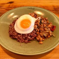 ガパオライス/ランチ/グルメ/タイ料理/タイ/目玉焼き/... 表参道にあるモンスーンカフェで食べたガパ…