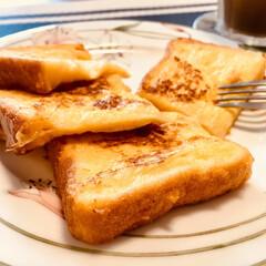 ヘルシー/フレンチトースト/卵と牛乳/ライ麦パン/ダイエット/ふわふわ/... 簡単に作れて美味しいフレンチトースト。い…