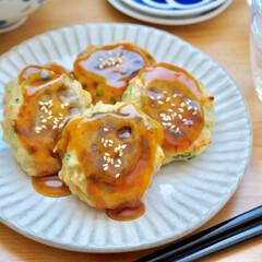 レシピ/れんこん/つくね/レンコン/甘辛い/今日のご飯/... レンコンが安かったので久々にレンコンつく…