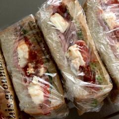 #オープンサンド/#カゴメサルサ/#クリームチーズ/#サラダ菜/#生ハム/#トマト/... 職場のお弁当や行楽にお出かけの時は、たま…