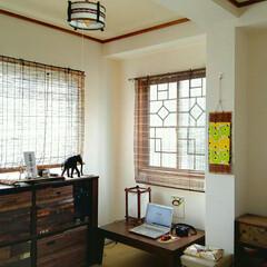 簡単 マステで、窓を大正浪漫風に