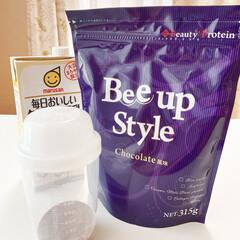 Bee up Style Chocolate風味 | Bee up Style(ソイプロテイン)を使ったクチコミ「当選したプロテインを お試しさせていただ…」(4枚目)