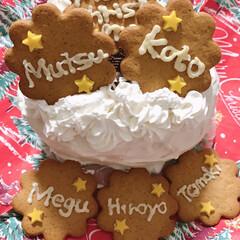 クリスマスケーキ 娘宅で🍰をいただきました🍴 スポンジを山…