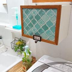 100均DIY/DIY/洗面所/手洗い/ペーパータオル/ペーパータオルホルダー/... 我が家のペーパータオルホルダーはDIYし…