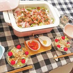 ブルーノ ホットプレート用 セラミックコート鍋 BRUNO コンパクトホットプレート オプション 鍋 深鍋 セラミックコート 煮物 シチュー | BRUNO(ホットプレート)を使ったクチコミ「お気に入りのブルーノホットプレートで夕飯…」