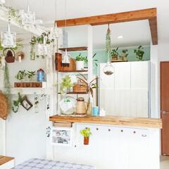 ディアウォール DWS90 | 若井産業(突っ張りラック)を使ったクチコミ「我が家のキッチンカウンターはDIYして木…」