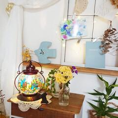 お花のあるインテリア/インテリア/お花のある生活/お花のある暮らし/お花/雑貨/... 今日はお庭からモッコウバラをカットして飾…