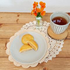 花のある生活/花のある暮らし/セブンスイーツ/おやつタイム/おうちカフェ/おやつ/... 今日のおやつ🍰✨  セブンのミルク餡まん…