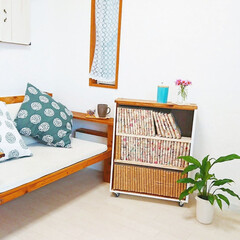 DIY収納/収納/DIY/引き出しリメイク/昭和家具/リメイク/... 我が家はマンガがいっぱいあるので収納に困…