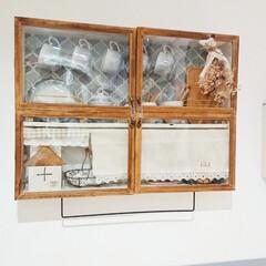 100均DIY/リミアな暮らし/コンパクト収納/給湯器隠し/キッチン収納/収納/... 収納の少ないキッチンに取り付けた収納棚で…(1枚目)