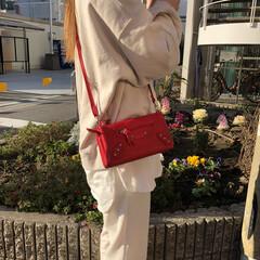 2wayバッグ/お財布バッグ/お財布ショルダー/ショルダーバッグ/小物使い/メンズファッション/... 春のお出掛けに便利♡  2wayショルダ…