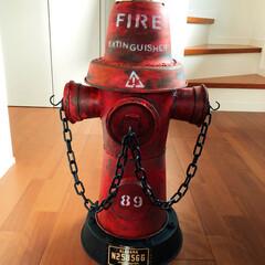 セリア/ハンドメイド/消火栓/ヴィンテージ風/アメリカン/100均/... ハンドメイドの消火栓に台座を付けました(…