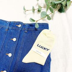 ファッション/おすすめアイテム/靴下/デニムスカート/置き画/プチプラ/... 🧸くつ下🧸 ロゴが可愛い靴下🧦  LUC…