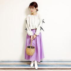 ファッション/おすすめアイテム/レフア/レフアクローゼット/カゴバッグ/しまむら/... 🧸春カラー🧸 レフアのスカート新調したよ…