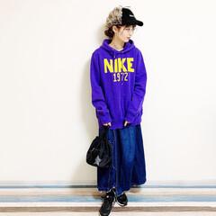 フライトキャップ/ナイキ/NIKE/ファッション/デニムスカート/capture/... 🧸メンズライク🧸 ナイキコーデ!!  パ…
