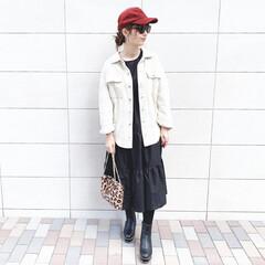 ファッション/おすすめアイテム/しまむら/ワンピース/ママ/ママコーデ/... 🧸coordinate 🧸 七分袖ワンピ…