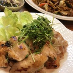完食/時短料理/塩だれチキン/山本ゆりさんレシピ 昨日の晩ご飯🤗 山本ゆりさんのカフェごは…(1枚目)