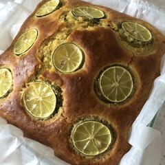 パウンドケーキ/すだちとかぼす/すだち消費 すだちとかぼすをたくさん頂きました😊❣️…(1枚目)