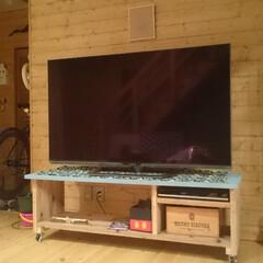 DIYアイデア投稿コンテスト テレビボード。   引っ越しを機にTVを…