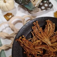 食器/ハンドメイド/おうちごはん 最近ハマっているエノキのカリカリ焼き。 …(1枚目)