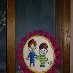 子供/刺繍/ハンドメイド 妻のハンドメイド仲間が作ってくれたコース…