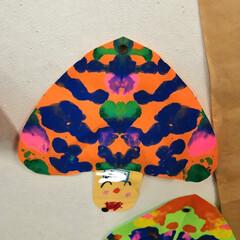 秋/お絵かき/工作/年中さん 昨日は下の息子の授業参観でした。 幼稚園…