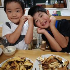 料理/息子/子供/朝食/フレンチトースト 4歳と6歳の息子達。 料理好きの私の影響…
