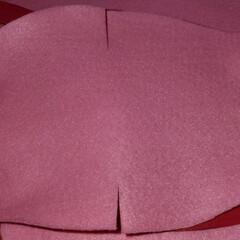 使い捨てマスク/フェルト/縫わない/ゴム紐がいらない/改良版 縫わないゴム紐がいらないフェルトマスクの…