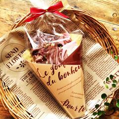 割れチョコ/ラッピング/春のフォト投稿キャンペーン/わたしの手作り 数種類の割れチョコを作ってラッピングしま…