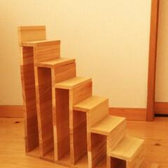 DIY/デグー/階段/かまぼこ板 我が家のアイドル、デグーのぐーちゃんのた…