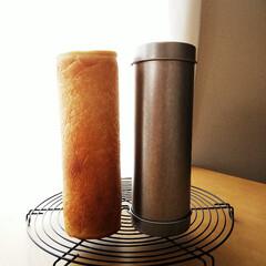 食パン/型/パン 円柱形に焼くことができる型を使って食パン…