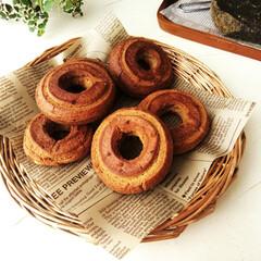 ドーナツ/黒糖/おやつ 黒糖作りが趣味の方から、手作りの黒糖を分…