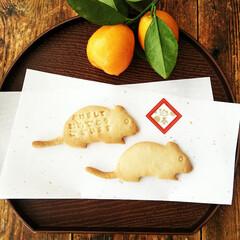 干支クッキー/型抜きクッキー/ねずみ/お正月2020 あけましておめでとうございます。 今年も…