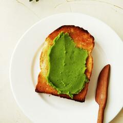 うぐいす餡/トースト/令和元年フォト投稿キャンペーン ひとつ前に載せたうぐいす餡を、バタートー…