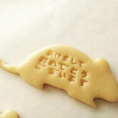 クッキー/型抜きクッキー/クッキースタンプ クッキースタンプで、新年の挨拶を押そうと…