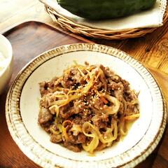 パパイヤ/牛肉 こちらは牛肉と細切りにしたパパイヤの炒め…