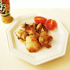 わさび/鶏肉/ミニトマト わさびで下味をつけた鶏肉を焼きました。 …