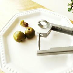 オリーブ/チェリーストーナー/種 チェリーの種取りに使う道具ですが、オリー…