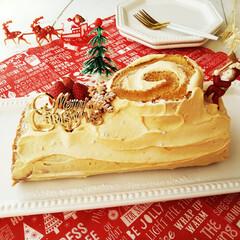 ブッシュドノエル/ケーキ/クリスマス2019 娘のリクエストでブッシュドノエルを作りま…