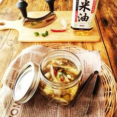 米油/えりんぎ/舞茸 舞茸とえりんぎのオイル漬けを作りました。…