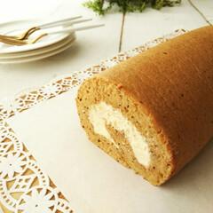 紅茶/ロールケーキ/アールグレイ アールグレイの香り豊かなシフォンケーキ生…