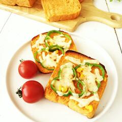 食パン/トマトジュース/ピザトースト ひとつ前に投稿した、トマトジュースを使っ…