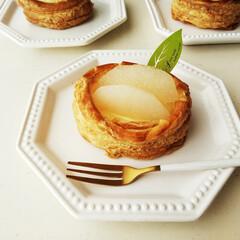 和梨/パイ/食欲の秋 ひとつ前に載せたパイには、和梨のコンポー…
