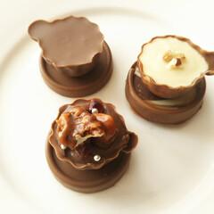 ハンドメイド/チョコレート/コーヒーカップ/バレンタイン コーヒーカップ型のチョコレートモールドで…(1枚目)
