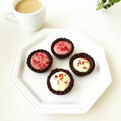 ミニタルト/ストロベリーチョコレート/ガナッシュ/ホワイトチョコレート 二種類のチョコレートでガナッシュタルトを…